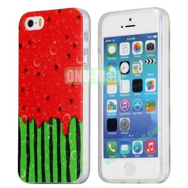 Extraordinary Design Soft TPU Case for iPhone 5 5S (Watermelon)