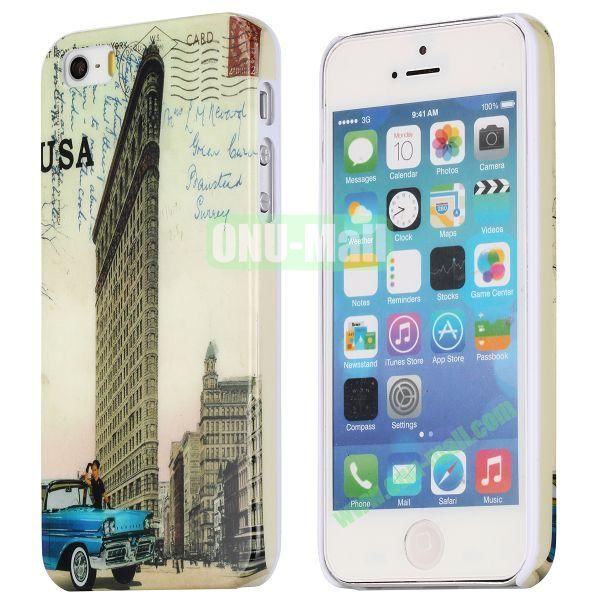 Special Images Personality Design Hard Plastic Case for iPhone 5 5S (The Fifth Avenue Building)