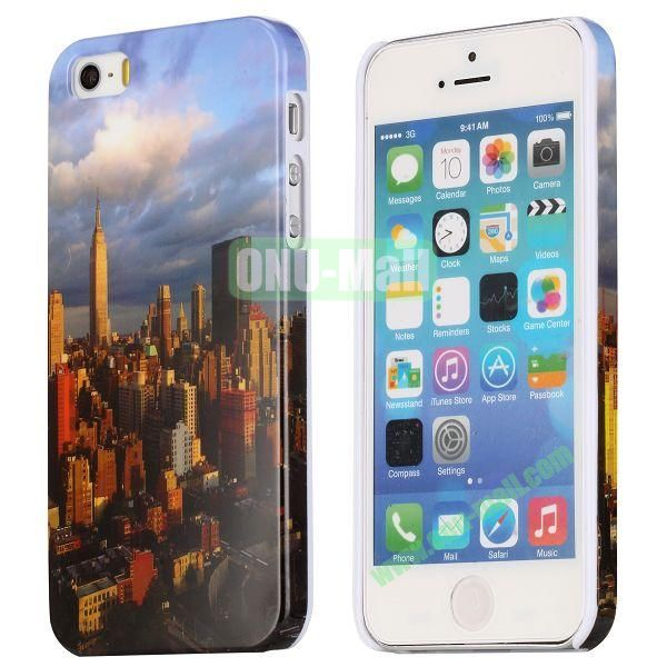 Special Images Personality Design Hard Plastic Case for iPhone 5 5S (Modern Urban Architecture)