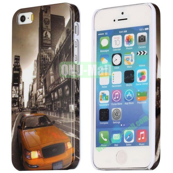 Special Images Personality Design Hard Plastic Case for iPhone 5 5S (Modern City Streets)