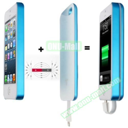 2800mAh Magnetic Adsorption Technology Mobile Power Bank Case for iPhone 5 & 5S (Blue)