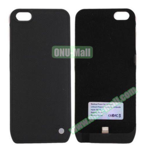 3650mAh Ultrathin Backup Power External Battery Case for iPhone 5 (Black)