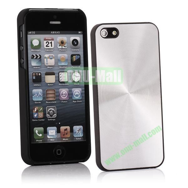 Ultrathin Aluminum Pattern and Oil Hand Felling Back Cover Case for iPhone 55S (Silver gray)