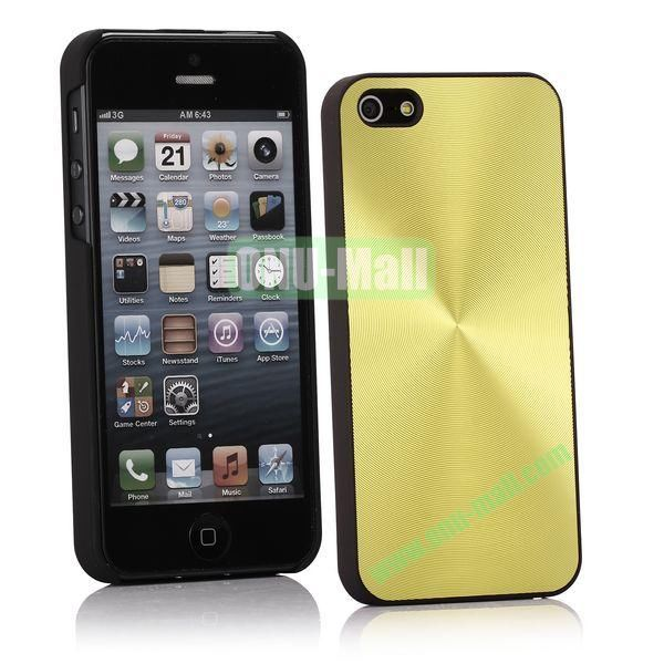 Ultrathin Aluminum Pattern and Oil Hand Felling Back Cover Case for iPhone 55S (Light green)