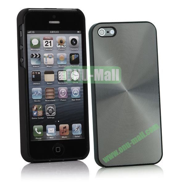 Ultrathin Aluminum Pattern and Oil Hand Felling Back Cover Case for iPhone 55S (Gray)