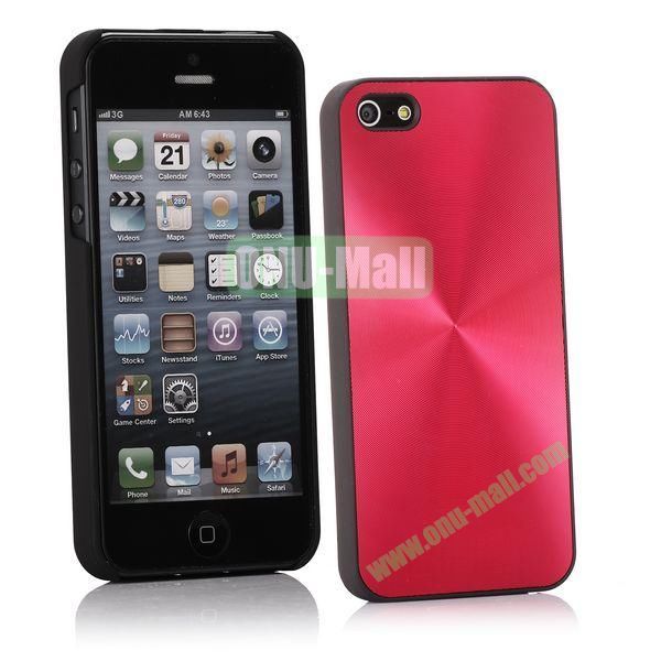 Ultrathin Aluminum Pattern and Oil Hand Felling Back Cover Case for iPhone 55S (Red)