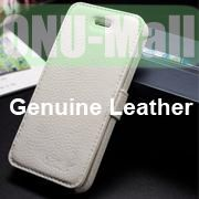 K-Cool Litchi Texture Folio Flip Genuine Leather Case with Card Slots for iPhone 5 5S (White)