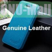 K-Cool Litchi Texture Folio Flip Genuine Leather Case with Card Slots for iPhone 5 5S (Blue)