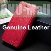 K-Cool Litchi Texture Folio Flip Genuine Leather Case with Card Slots for iPhone 5 5S (Rose)