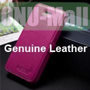 K-Cool Litchi Texture Folio Flip Genuine Leather Case with Card Slots for iPhone 5 5S (Purple)