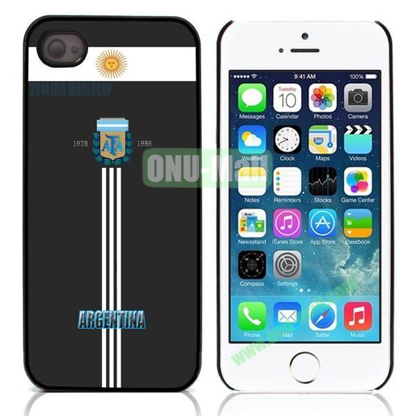Argentina 2014 FIFA World Cup Pattern Design Aluminum Coated PC Hard Case for iPhone 55S