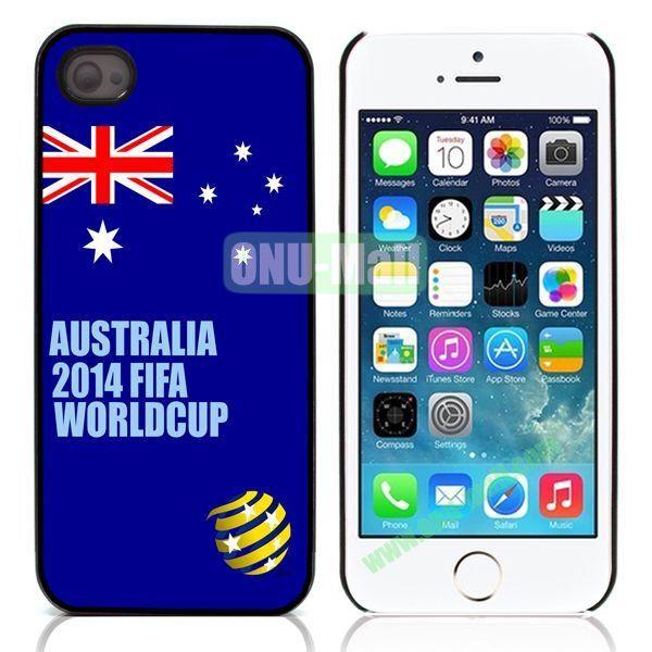 2014 FIFA World Cup Pattern Design Aluminum Coated PC Hard Case for iPhone 55S (Australia Flag)