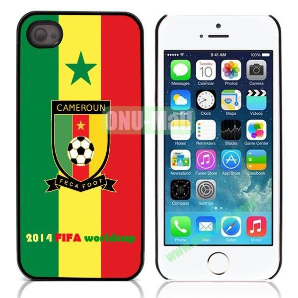 2014 FIFA World Cup Aluminum Coated PC Hard Case for iPhone 55S  (Cameroun Flag)