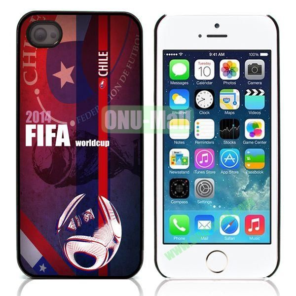 Chile 2014 FIFA World Cup Aluminum Coated PC Hard Case for iPhone 55S