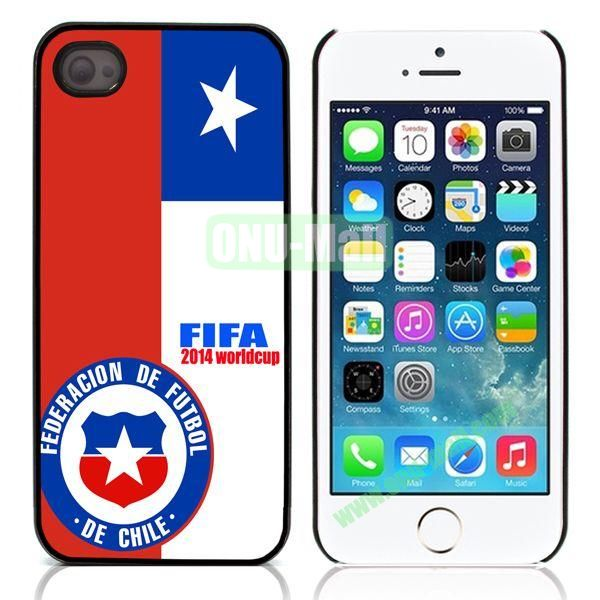 2014 FIFA World Cup Aluminum Coated PC Hard Case for iPhone 55S (Chile Flag)