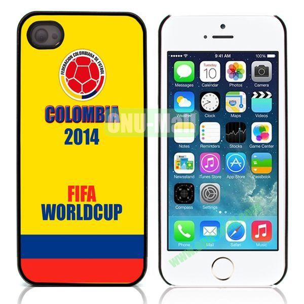 Colombia 2014 FIFA World Cup Aluminum Coated PC Hard Case for iPhone 55S