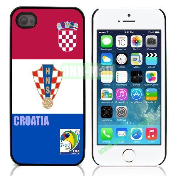 Croatia 2014 FIFA World Cup Aluminum Coated PC Hard Case for iPhone 55S