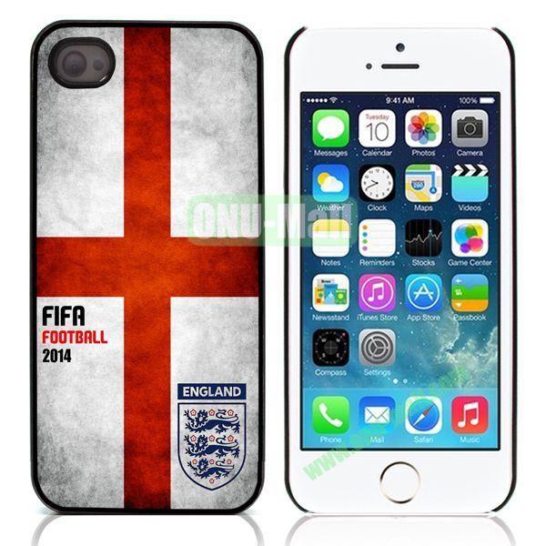 2014 FIFA World Cup Aluminum Coated PC Hard Case for iPhone 55S (England Flag)