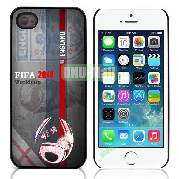 England 2014 FIFA World Cup Aluminum Coated PC Hard Case for iPhone 55S