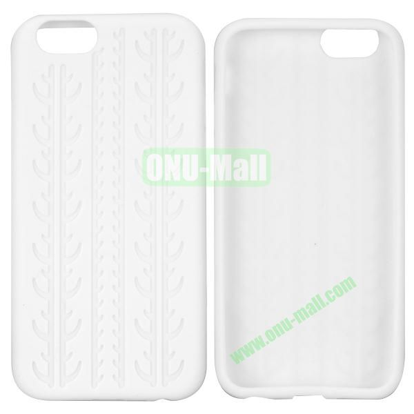 Tyre Tread Texture Soft Gel Silicone Case for iPhone 6 Plus 5.5 inch (White)