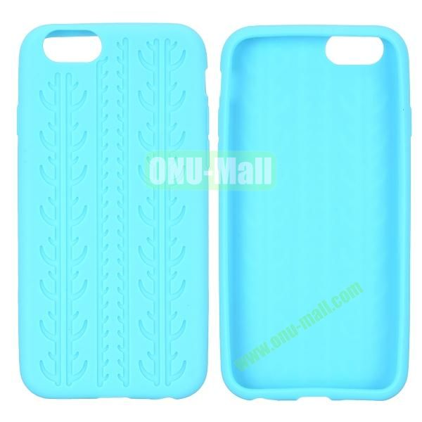 Tyre Tread Texture Soft Gel Silicone Case for iPhone 6 4.7 inch (Baby Blue)