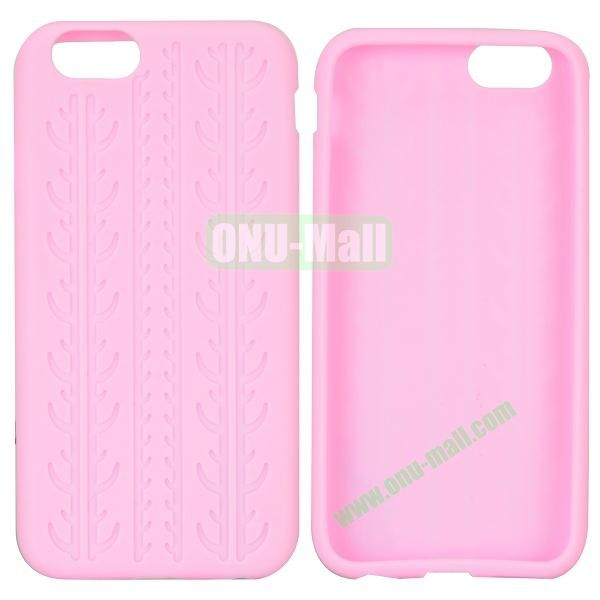 Tyre Tread Texture Soft Gel Silicone Case for iPhone 6 Plus 5.5 inch (Pink)