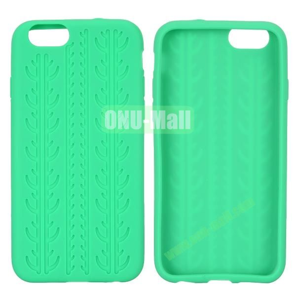Tyre Tread Texture Soft Gel Silicone Case for iPhone 6 Plus 5.5 inch (Green)