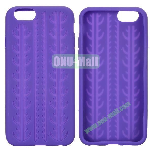Tyre Tread Texture Soft Gel Silicone Case for iPhone 6 4.7 inch (Purple)