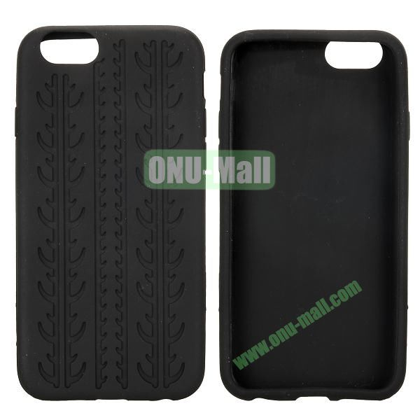 Tyre Tread Texture Soft Gel Silicone Case for iPhone 6 4.7 inch (Black)