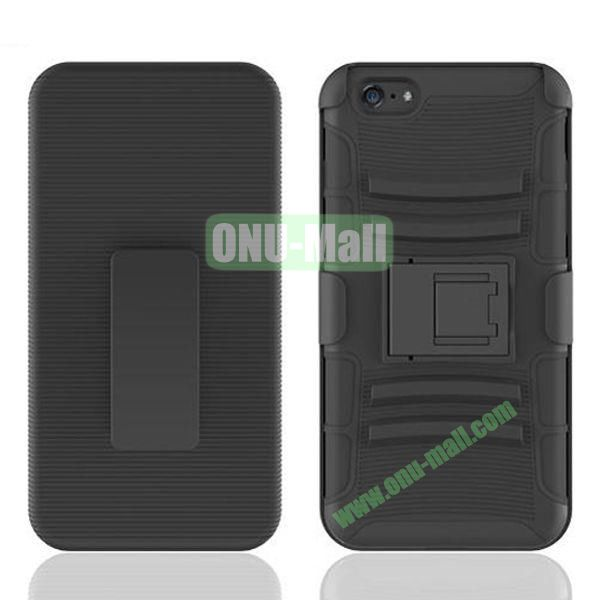 Hot Sale Snap-on Rubber Belt Clip Holster Backup Case for iPhone 6 Plus 5.5 inch (Black)