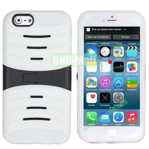 New Arrival Snap-on Rubber Belt Clip Holster Backup Case for iPhone 6 4.7 inch (White)