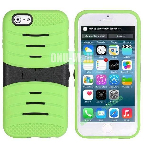 New Arrival Snap-on Rubber Belt Clip Holster Backup Case for iPhone 6 Plus 5.5 inch (Green)
