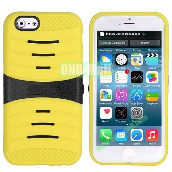 New Arrival Snap-on Rubber Belt Clip Holster Backup Case for iPhone 6 4.7 inch (Yellow)