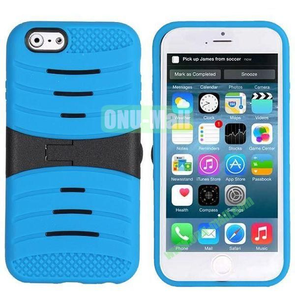 New Arrival Snap-on Rubber Belt Clip Holster Backup Case for iPhone 6 Plus 5.5 inch (Blue)