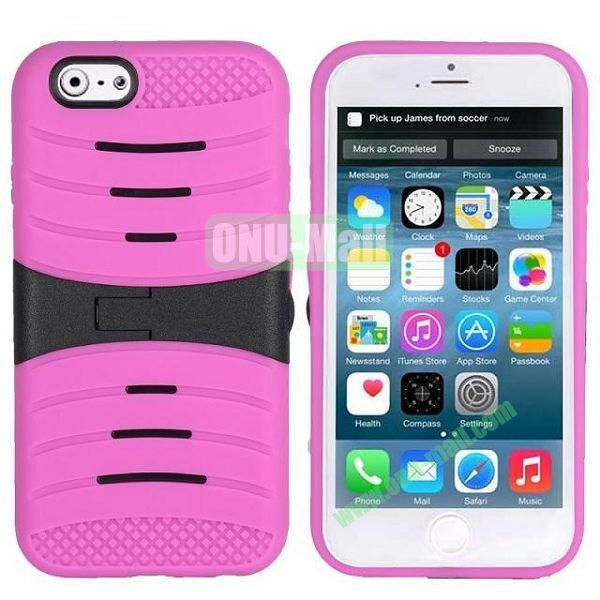 New Arrival Snap-on Rubber Belt Clip Holster Backup Case for iPhone 6 Plus 5.5 inch (Rose)