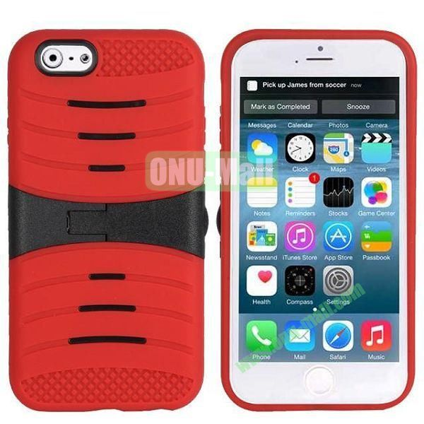 New Arrival Snap-on Rubber Belt Clip Holster Backup Case for iPhone 6 Plus 5.5 inch (Red)