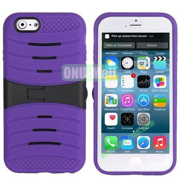 New Arrival Snap-on Rubber Belt Clip Holster Backup Case for iPhone 6 4.7 inch (Purple)
