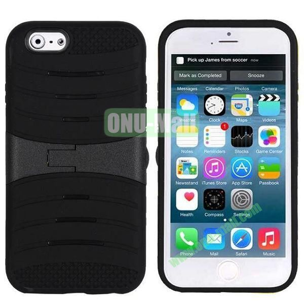 New Arrival Snap-on Rubber Belt Clip Holster Backup Case for iPhone 6 Plus 5.5 inch (Black)