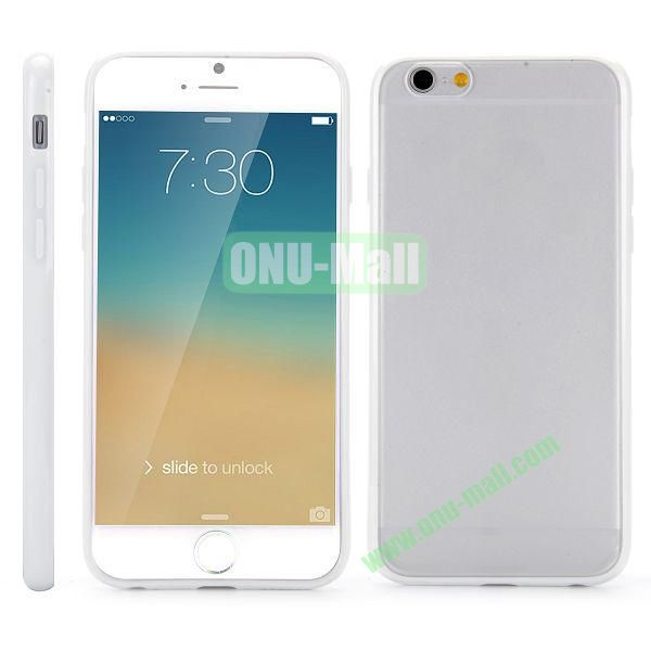 Frosted PC and TPU Hybrid Hard Case for iPhone 6 Plus 5.5 inch (White)