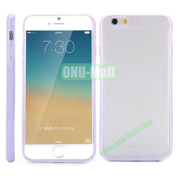 Frosted PC and TPU Hybrid Hard Case for iPhone 6 4.7 (Light Purple)