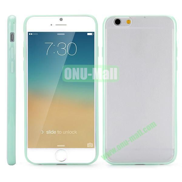 Frosted PC and TPU Hybrid Hard Case for iPhone 6 Plus 5.5 inch (Light Green)