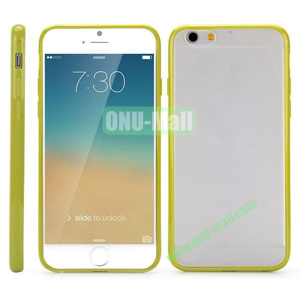 Frosted PC and TPU Hybrid Hard Case for iPhone 6 Plus 5.5 inch (Yellowgreen)