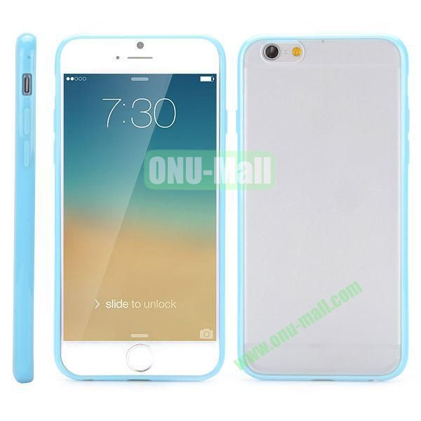 Frosted PC and TPU Hybrid Hard Case for iPhone 6 Plus 5.5 inch (Baby Blue)