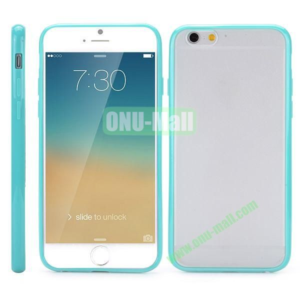 Frosted PC and TPU Hybrid Hard Case for iPhone 6 Plus 5.5 inch (Cyan)