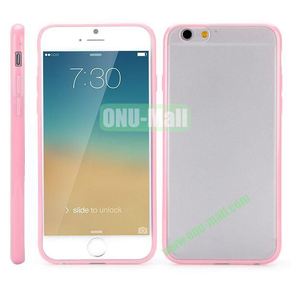Frosted PC and TPU Hybrid Hard Case for iPhone 6 Plus 5.5 inch (Pink)