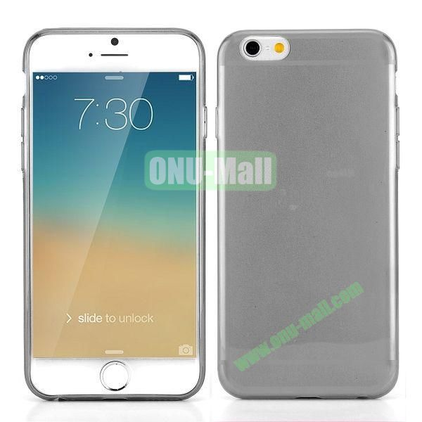 0.3mm Silm Transparent Color Soft TPU Case for iPhone 6 Plus 5.5 inch (Grey)