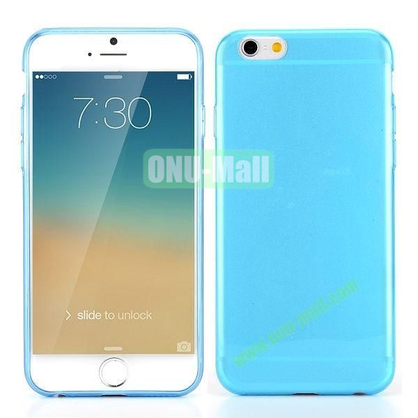 0.3mm Silm Transparent Color Soft TPU Case for iPhone 6 Plus 5.5 inch (Blue)
