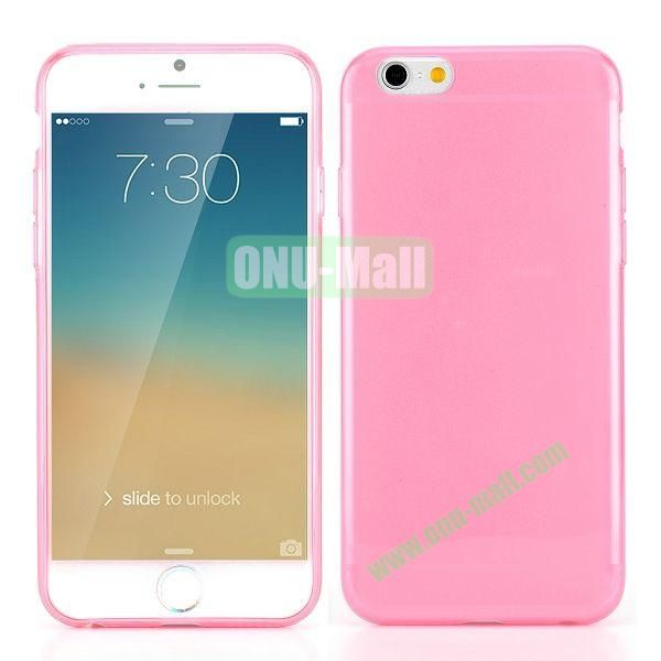 0.3mm Silm Transparent Color Soft TPU Case for iPhone 6 Plus 5.5 inch (Pink)