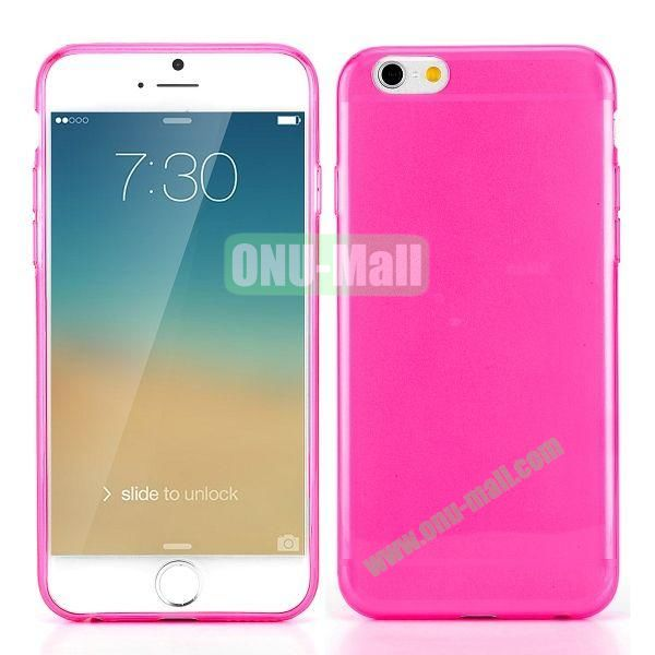 0.3mm Silm Transparent Color Soft TPU Case for iPhone 6 4.7 inch (Rose)