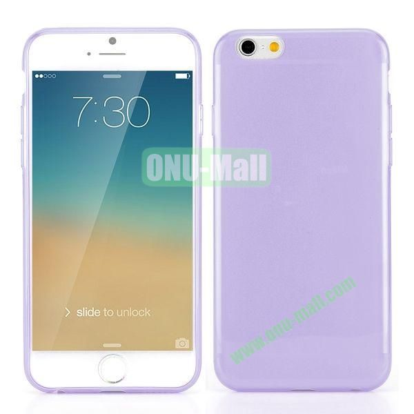 0.3mm Silm Transparent Color Soft TPU Case for iPhone 6 4.7 inch (Purple)